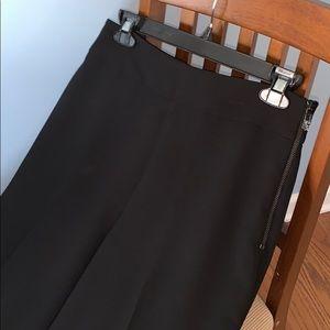 ANN TAYLOR black lined slacks 4P NWOT